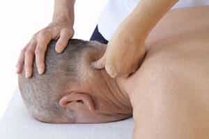 trigger point massage on neck